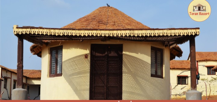 bhunga traditional mud houses of kutch toran resort. Black Bedroom Furniture Sets. Home Design Ideas